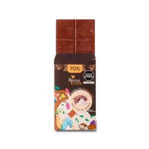 Barra de chocolate 70% de nibs con sal de maras